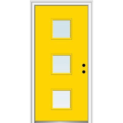 Verona Home Design Fibreglass Smooth 3 Lite Square Clear Single