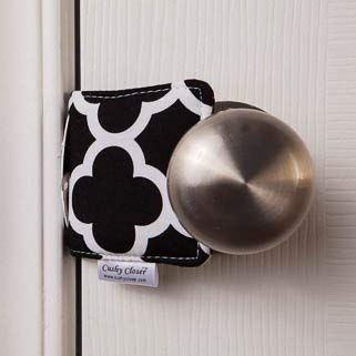 The Original Cushy Closer Door Cushion Chloe Black Quatrefoill No More Noisy Doors Door Latch Cover Baby Safety F Baby Registry Second Baby Baby Cover