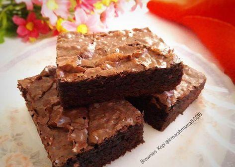 Resep Brownies Kopi Pr Browniesdcc Oleh Pawon Mair Irma Rahmawati Resep Memanggang Kue Kue Resep Kue