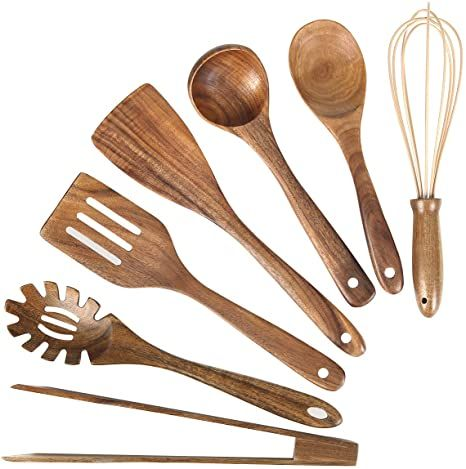 3PCS Kitchenware Wooden Spatula Cooking Utensils Kitchen Utensil,Natural Wood Kitchen Utensils Set,Non-stick Wooden Kitchen Tool,Cookware