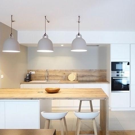 25 White And Wood Kitchen Ideas Kitchens, Woods and Kitchen design - schlafzimmer bad hinter glas loft wohnung
