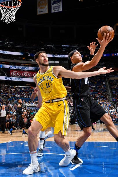 Klay Thompson Of The Golden State Warriors And Aaron Gordon Of The Klay Thompson Thompson Golden State Warriors