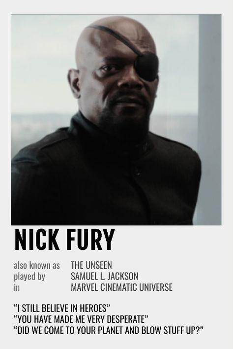 Nick Fury Polaroid Poster