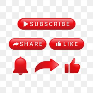 Subscribe Button With Share And Notification Subscribe Button Share Png And Vector With Transparent Background For Free Download Youtube Banner Design Share Logo Video Design Youtube