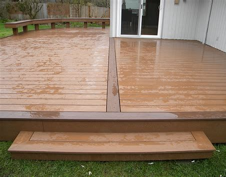 Composite Decking Is A Wonderful Alternate To All Wood Decking And Also Is Constructed From Materials That Consist Of Recycled And Also Bra Building A Deck Composite Decking Deck Design