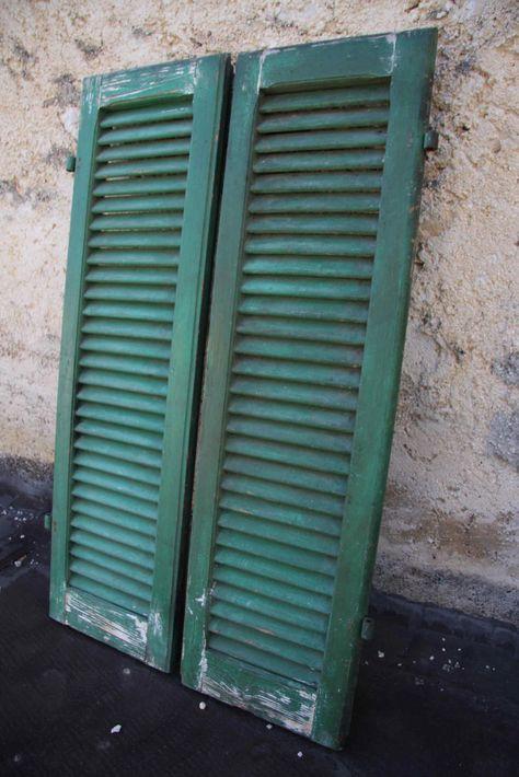 vintage wooden shutters