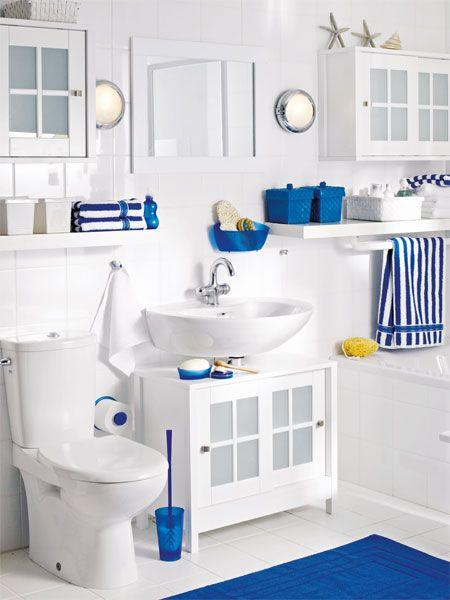 Familienbad in Blau und Weiß #Badezimmer #Maritim #Einrichten - wohnzimmer maritim einrichten