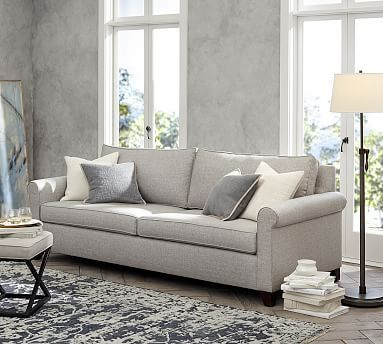 Roll Arm Deep Seat Upholstered Sofa