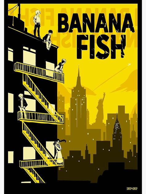 'Banana Fish' Poster by SnipSnipArt Poster Wall, Room Posters, Poster Prints, Manga Anime, Anime Art, Animes Wallpapers, Cute Wallpapers, Fish Background, Fish Icon