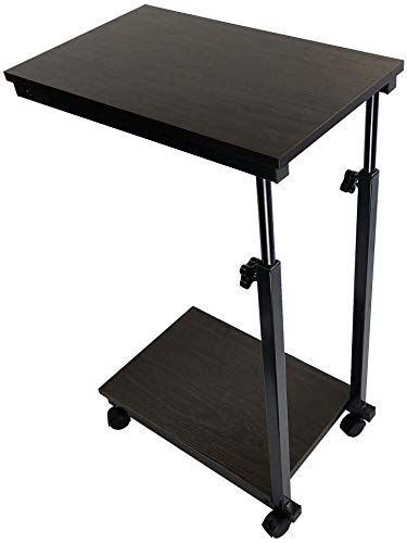 Great For Kktoner Sofa Side Table Slide Under Height Adjustable Wooden Laptop Table Couch Table Mobile Dining Tabl In 2020 Sofa Side Table Sofa Snack Table Couch Table