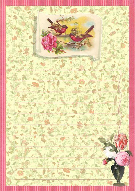 Printable Stationery Vintage Paper 5x7 674Grunge PaperPrintable PaperInstant DownloadScrapbook PaperPrintable StationeryVintage