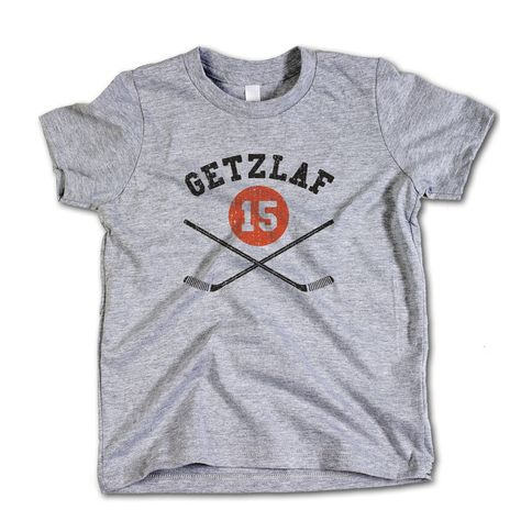 Ryan Getzlaf NHLPA Officially Licensed Anaheim Toddler and Youth T-Shirts 2-12  Years Ryan Getzlaf Sticks K 1bb927906