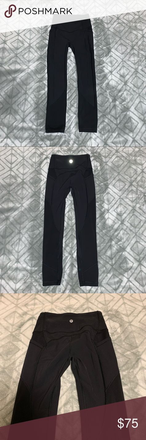 bf57d6cd7 Black high waisted lulu lemon leggings Black high waisted lulu lemon  leggings