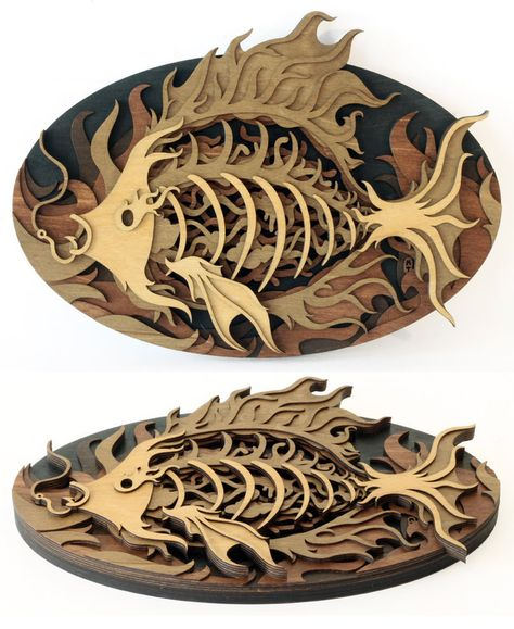 Splendid Wood Cutout Sculptures By Martin Tomsky Sperrholz Kunst Waldzeichnung