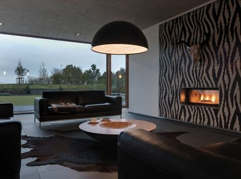 Décoration salon moderne en noir pour un intérieur glamour ...
