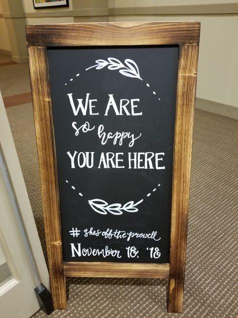 Chalkboard art - Bridal shower, engagement, wedding, personalized. Will do for FTGU coffee shop!