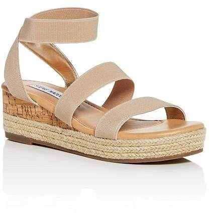 65648b7fb0 Steve Madden Girls' JBandi Strappy Platform Wedge Sandals - Little Kid, ...