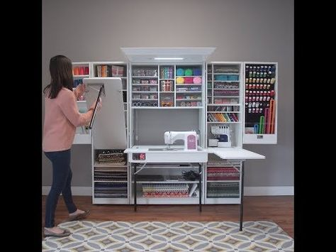 Latest Absolutely Free sewing table hideaway Strategies A dream workstation for any seamstress or crafter! Open up this beautiful cabinet to reveal over 2