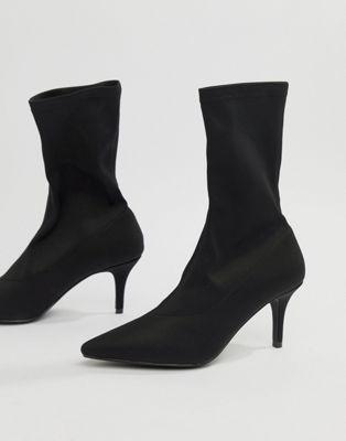 Raid Raid Phillipa Black Pointed Sock Ankle Boots Womens Boots Ankle Sock Ankle Boots Pointed Ankle Boots