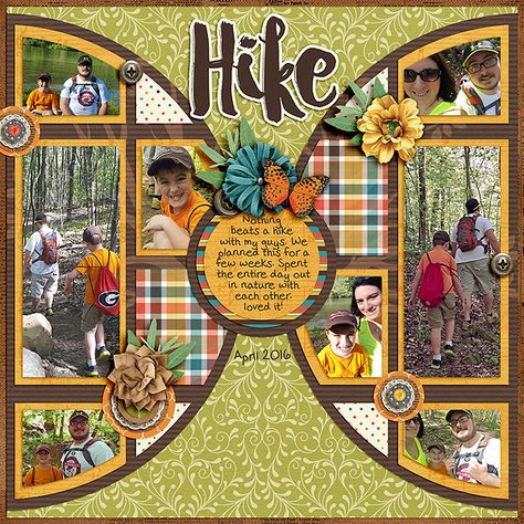 Hike - Scrapbook.com | credits: Pieces Of Pie Templates and Family Heritage…