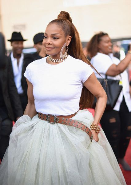 Honoree Janet Jackson attends the 2018 Billboard Music Awards at MGM Grand Garden Arena.