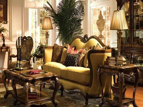 Interiors victorian style on pinterest victorian for Palm tree living room ideas