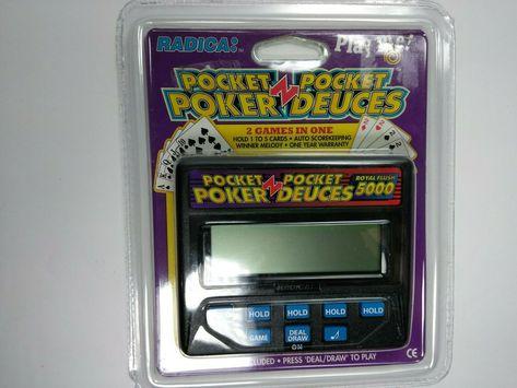 Radica 1314 Pocket Poker Pocket Deuces Royal Flush 5000 Handheld Game SEALED!