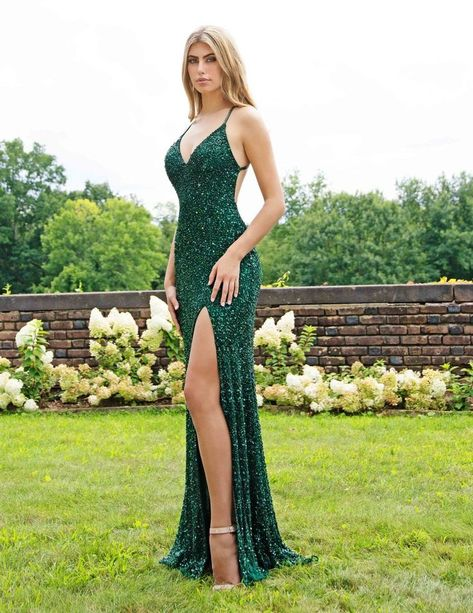 Open Back Prom Dresses, Cute Prom Dresses, Cheap Evening Dresses, Cheap Dresses, Sexy Dresses, Dark Green Prom Dresses, Stunning Prom Dresses, Sequin Prom Dresses, Emerald Green Evening Gown