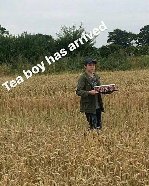 """""""Tea-boy"""" lol"""