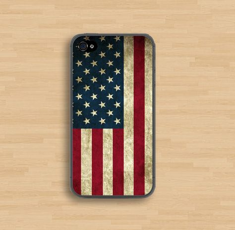 The flag of American iPhone 4 Case, iPhone 4s Case, iPhone Case, iPhone hard Case. $6.99, via Etsy.