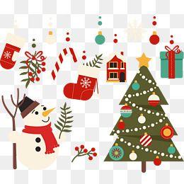 크리스마스 나무와 크리스마스 장식 크리스마스 크리스마스 명절 소재 Png 및 벡터 에 대한 무료 다운로드 크리스마스 크리스마스 트리 크리스마스 눈사람