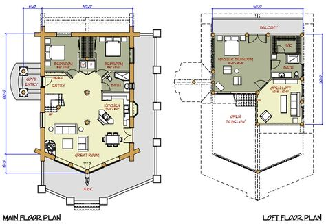 7 best boyne cabins images on Pinterest Wood cabins, Log homes and - plan maison structure metallique