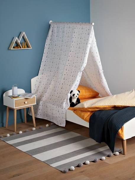 Betthimmel Mit Tipis Weiss Bedruckt 2 Kinder Zimmer Schlafzimmer Deko Betthimmel Kinderbett
