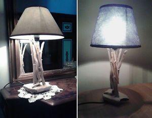 Tavolino comodino ~ Lampada da comodino o tavolo artigianale legno marino driftwood