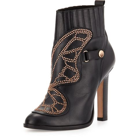 ab6be469d65 Sophia Webster Karina Studded Butterfly 100mm Bootie ( 850) ❤ liked on  Polyvore featuring shoes
