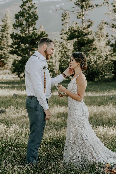 Breckenridge Elopement- Hair: CRC Mountain Beauty. Photo: Map and Compass photography. Makeup: Weemala #bride #breckenridgebride #elope2021 #rockymountainbride #vailwedding #vailbride #coloradoweddingplanner #coloradoelopementphotographer #bohobride #bridestyle #romanticbride #breckenridgecolorado #crcmtnbeauty #elopementcolorado #coloradowedding #mountainwedding #bridestyle #vailcolorado #coloradoweddinghairstylist #crcmountainbeauty #weddingdress