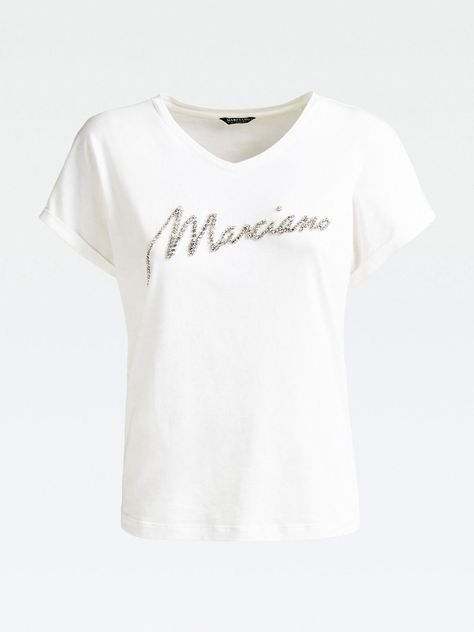 Marciano Los Angeles T Shirt Damen Weiss Grosse Xl Shirts T Shirt Damen T Shirt