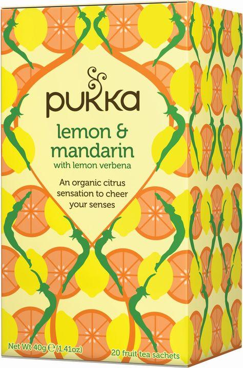 Lemon and Mandarin with Lemon Verbena Pukka Tea