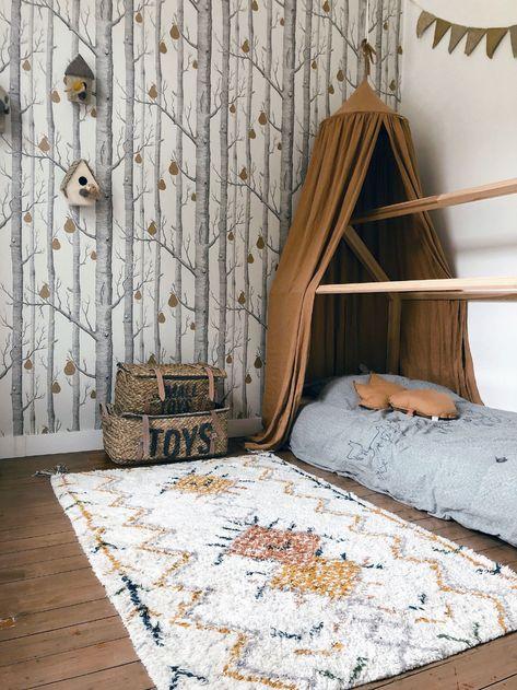forest enchanted roblox escape peint papier chambre nature kinderkamer behang enfant cole son wooninspiratie nu murals une woods foret afkomstig