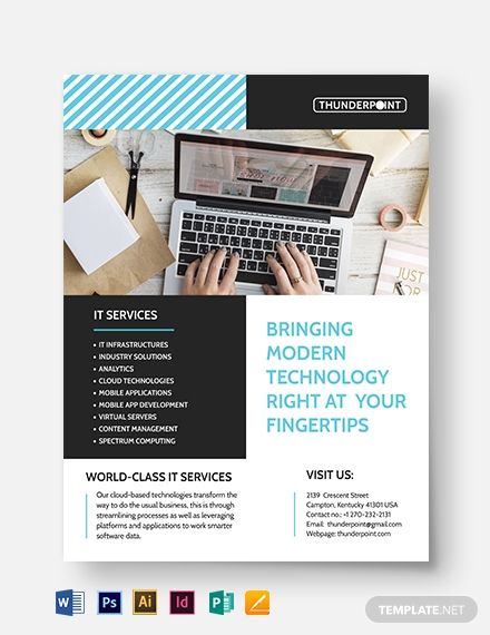 It Services Flyer Template Free Jpg Google Docs Illustrator Indesign Word Apple Pages Psd Publisher Template Net Flyer Template Flyer Creative Cv Template