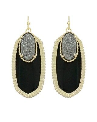 Dayton Earrings in Black Galaxy - Kendra Scott Jewelry. Available October 16, 2013. @Laura Jayson Jayson Jayson Jayson Morris