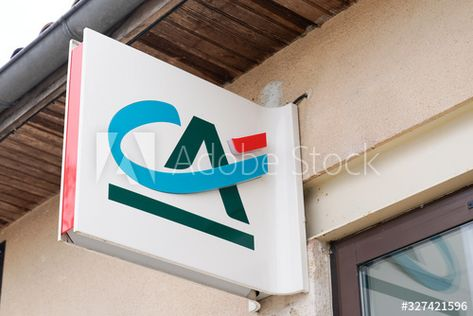 Credit Agricole Logo Ca Store Brand Bank Agency Sign Facade Office Window Sponsored Ca Store Brand Credit Ag In 2020 Facade Office Window Marketing Design