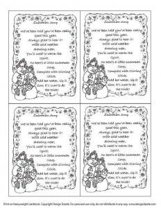 graphic relating to Snowman Soup Free Printable named Absolutely free Printable Snowman Soup Poem Tags xmas Snowman