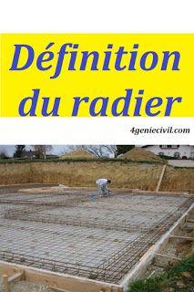 Definition Du Radier Fondation Genie Civil Cours Genie Civil