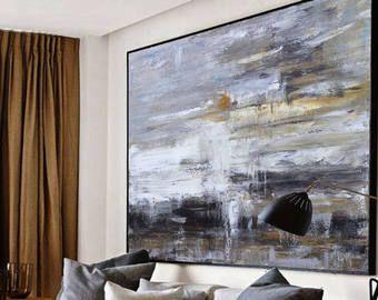 Grande Peinture à L Huile Abstraite Art Contemporain