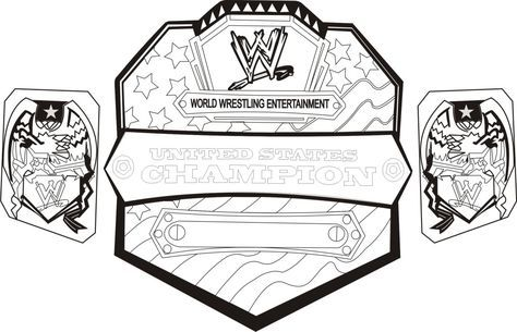 Wwe Roman Reigns Coloring Pages Championship Belt Coloringstar