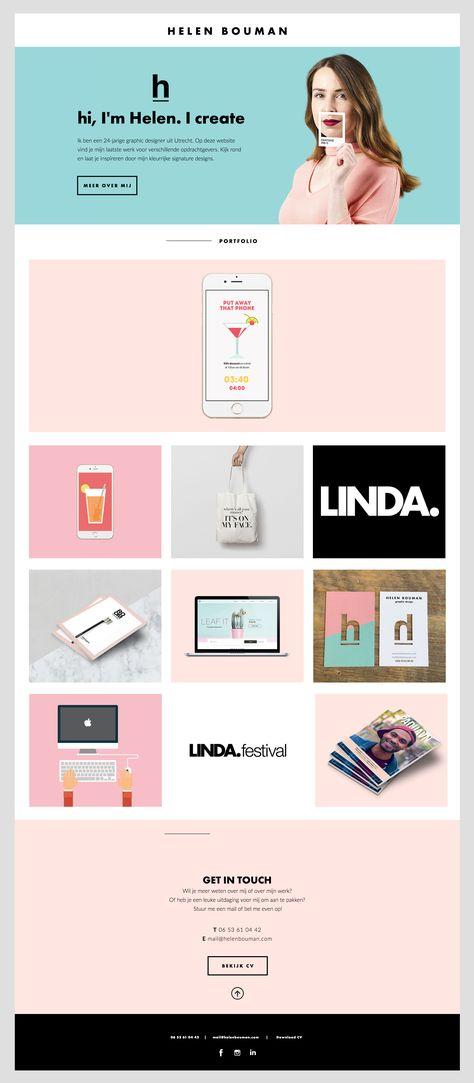 Simple but creative portfolio website design for graphic designer