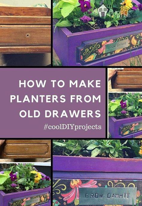 cajón de edad se convierte en una maceta en 1 hora, jardinería, muebles pintados, reutilización Upcycling, Cómo hacer que los plantadores de viejos cajones