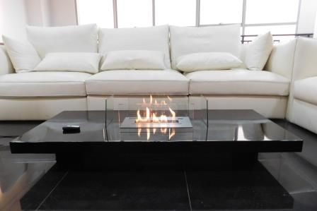 Table Cheminee Ethanol Design Telecommandee Lou Afire In 2020 Coffee Table Fireplace Fireplace Furniture