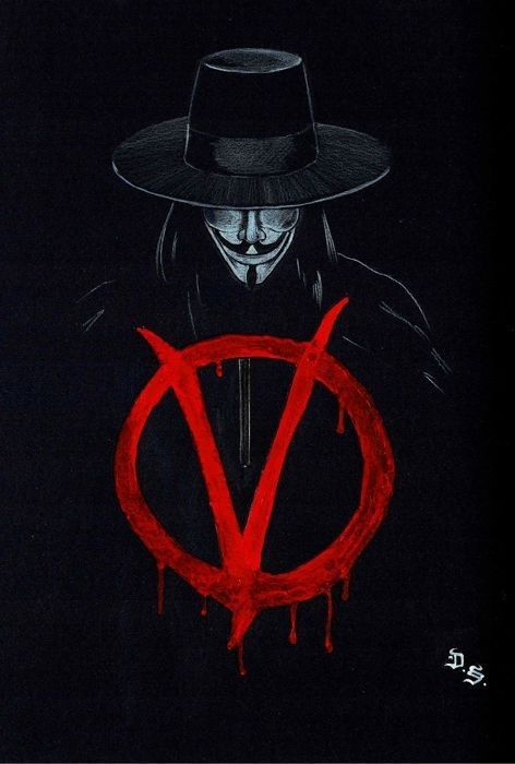 V De Vinganca V For Vendetta Alan Moore V For Vendetta Tattoo V For Vendetta Original Drawing